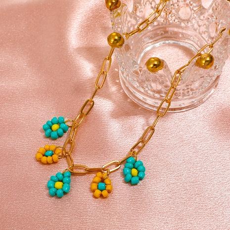 Modefarbe Gänseblümchen dicke hohle Kette geometrische Halskette Großhandel nihaojewelry NHDP431697's discount tags
