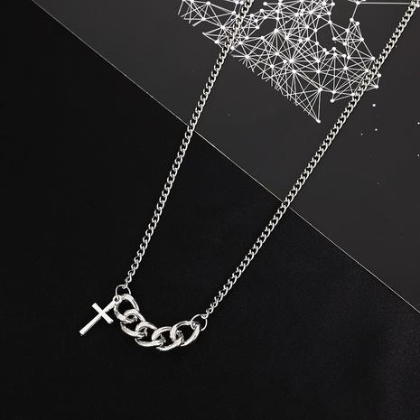 einfache Retro-Punk-Kreuz-Hohlkettenhalskette Großhandel nihaojewelry NHDP431700's discount tags