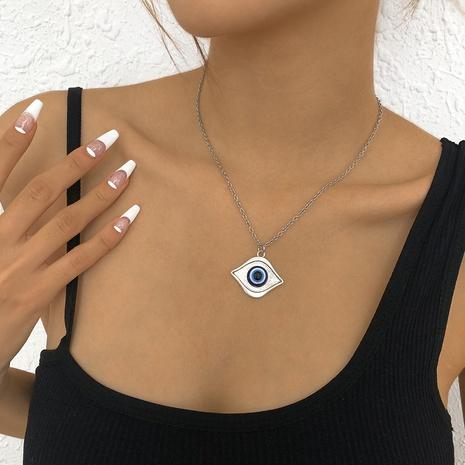 einfache retro geometrische augenförmige Halskette Großhandel nihaojewelry NHMD431796's discount tags