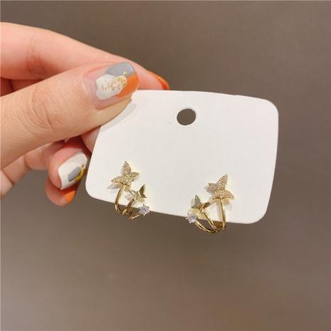 clip d'oreille simple en forme de petit papillon en gros Nihaojewelry NHHER431935's discount tags