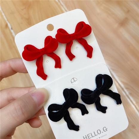 Boucles d'oreilles en velours coréen en gros Nihaojewelry NHHER431960's discount tags