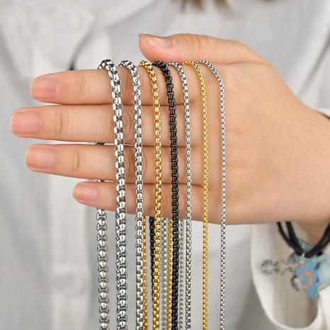 punk einfache edelstahl stapeln halskette Großhandel nihaojewelry NHHF431273's discount tags