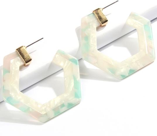 Sechseckige geometrische Harzohrringe Großhandel Nihaojewelry NHMD431576's discount tags