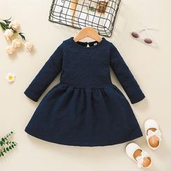 lässiges einfarbiges A-Linie Kinderkleid Großhandel Nihaojewelry NHLF432259