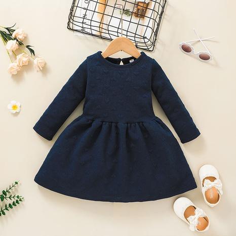 lässiges einfarbiges A-Linie Kinderkleid Großhandel Nihaojewelry NHLF432259's discount tags