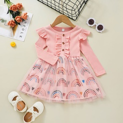 Mode rosa Langarm-Prinzessinkleid Großhandel Nihaojewelry NHLF432265