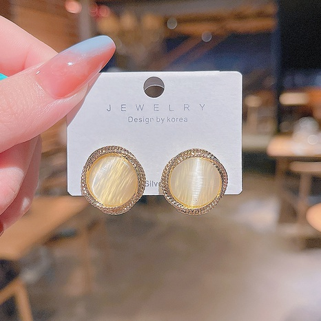 neuer Stil Opalkreis Ohrstecker Großhandel Nihaojewelry NHQYF432389's discount tags