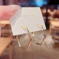 einfache retro geometrische kreisohrringe Großhandel nihaojewelry NHQYF432403