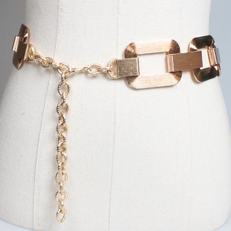 fashion geometric interlocking metal chain pendent belt wholesale Nihaojewelry  NHJSR432666's discount tags