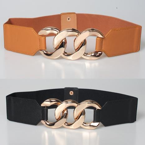 Fashion Elastic Waist Wide Girdle Metal Buckle Wholesale Nihaojewelry  NHJSR432667's discount tags