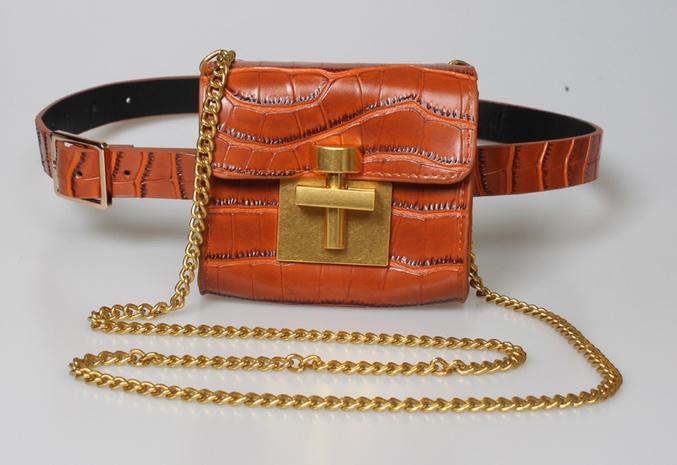 new Korean stone pattern belt chain waist bag wholesale Nihaojewelry  NHJSR432682's discount tags