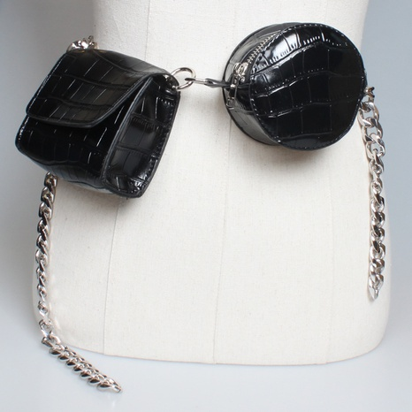 new trendy thin chain belt twin chest bag wholesale Nihaojewelry  NHJSR432684's discount tags