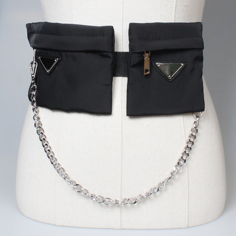 new chain tassel Oxford cloth double waist bag wholesale Nihaojewelry  NHJSR432685's discount tags