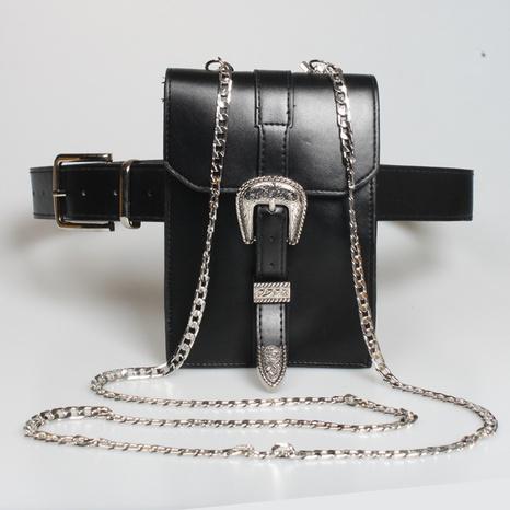 Neue multifunktionale geschnitzte Schnalle lange Kette Gürteltasche Großhandel Nihaojewelry NHJSR432690's discount tags