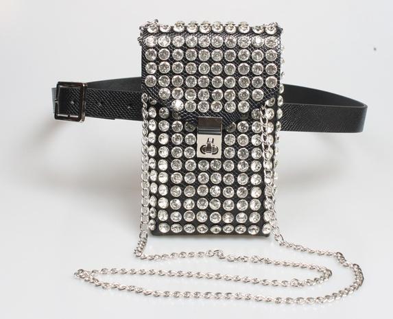 Retro-Schlangenmuster Strasskette diagonale Tasche Gürtel Großhandel Nihaojewelry NHJSR432699's discount tags