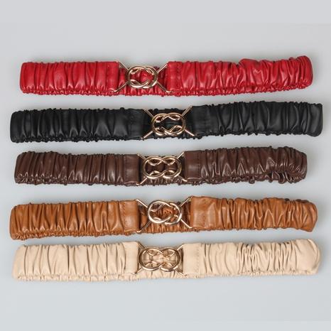 Mode einfarbig plissierter elastischer Gürtel Großhandel Nihaojewelry NHJSR432705's discount tags