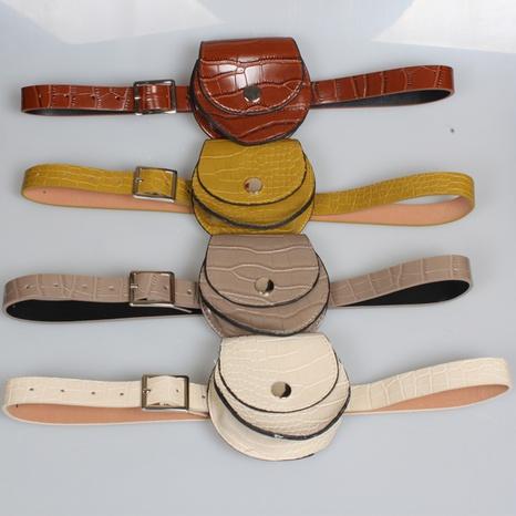 Mode einfarbig Halbkreis dünne Gürtel kleine Gürteltasche Großhandel Nihaojewelry NHJSR432707's discount tags