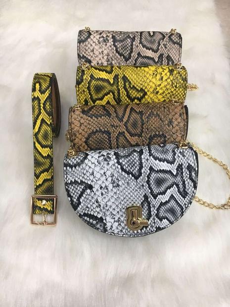 Schlangenmuster dünne Gürtelkette drehbare Schnalle Geldbörse Großhandel Nihaojewelry NHJSR432715's discount tags
