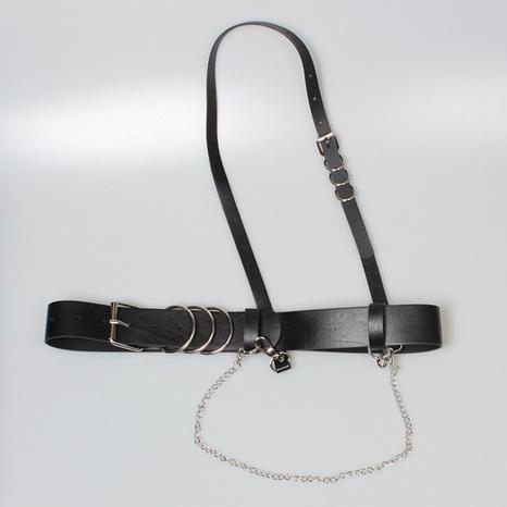 Mode geometrische Kette diagonaler One-Shoulder-Riemen-Gürtel Großhandel Nihaojewelry NHJSR432718's discount tags