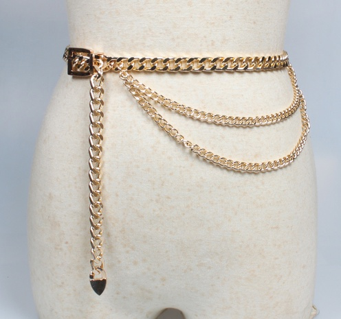 Metallanhänger Dornschließe dicke Taillenkette Gürtel Großhandel Nihaojewelry NHJSR432722's discount tags
