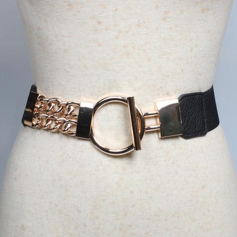 Art und Weise geometrischer Ringmetallkette elastischer Gürtel Großhandel Nihaojewelry NHJSR432725's discount tags