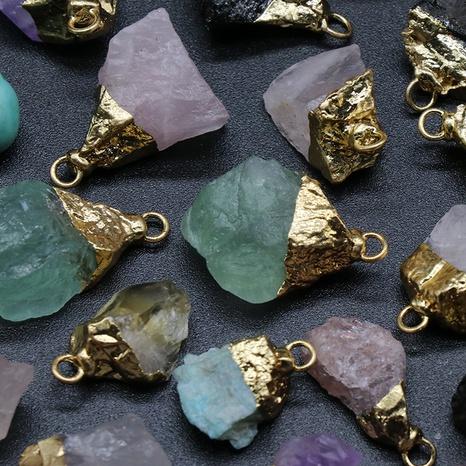 Pendentif en pierre d'agate en cristal matériel de bricolage en gros Nihaojewelry NHKES432753's discount tags