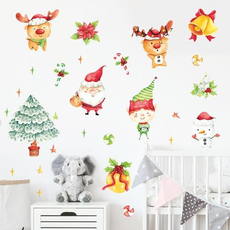cartoon painted santa snowman christmas tree kid wall sticker wholesale Nihaojewelry  NHAF432780's discount tags
