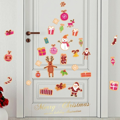 New Christmas candy children's room wall window glass decoration stickers wholesale Nihaojewelry  NHAF432783's discount tags