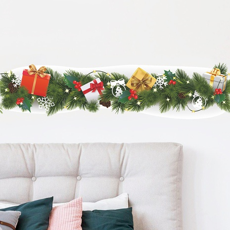 New Christmas waist line pine branch snowflake decoration wall sticker wholesale Nihaojewelry  NHAF432784's discount tags