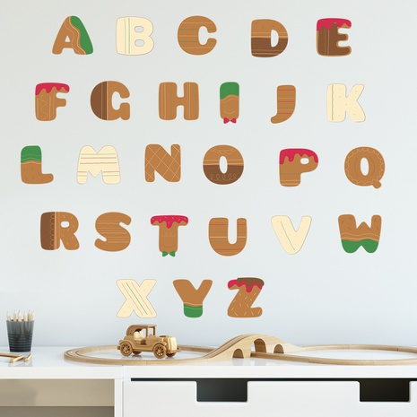 Christmas cookies 26 English letters Children's bedroom decoration wall sticker wholesale Nihaojewelry  NHAF432786's discount tags