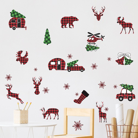 Christmas fawn Snowflake tree bells Trolley decoration wall stickers wholesale Nihaojewelry  NHAF432787's discount tags