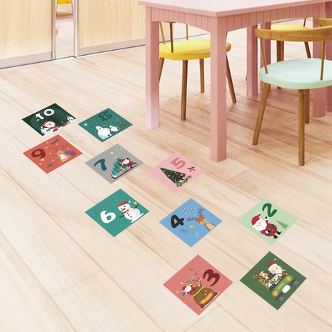 New Christmas Hopscotch Santa Claus Decoration Wall Sticker Wholesale Nihaojewelry  NHAF432788's discount tags