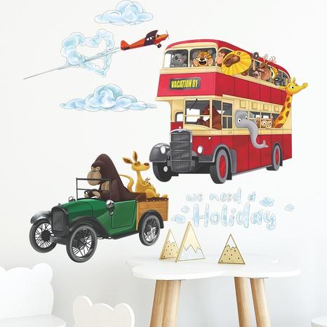 Cartoon Orangutan Kangaroo Airplane Bus Clouds Wall Sticker Wholesale Nihaojewelry  NHAF432790's discount tags
