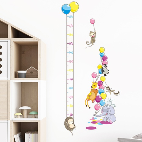 Cartoon Monkey Balloon Elephant Animal Height Sticker Wholesale Nihaojewelry  NHAF432793's discount tags