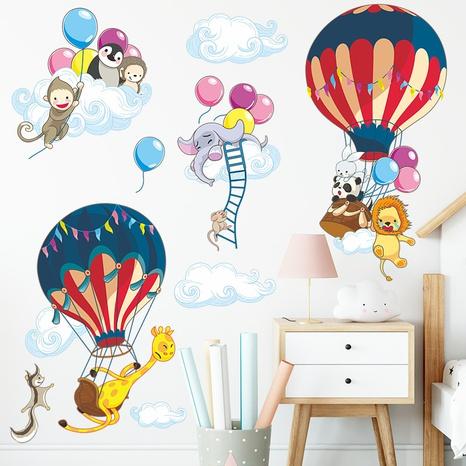 Cartoon Hot Air Balloon Clouds Giraffe Lion Elephant Children's Bedroom Sticker Wholesale Nihaojewelry  NHAF432796's discount tags