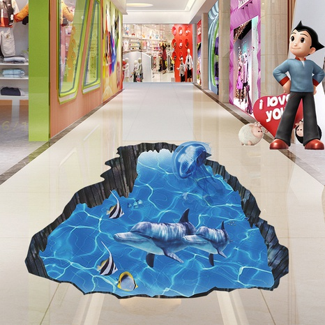 New Underwater World Whale Children's Bedroom Floor Sticker Wholesale Nihaojewelry  NHAF432799's discount tags