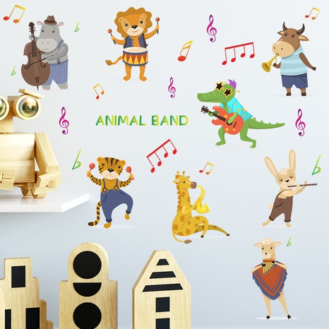 New cartoon small animal concert children's bedroom porch wall stickers wholesale Nihaojewelry  NHAF432804's discount tags