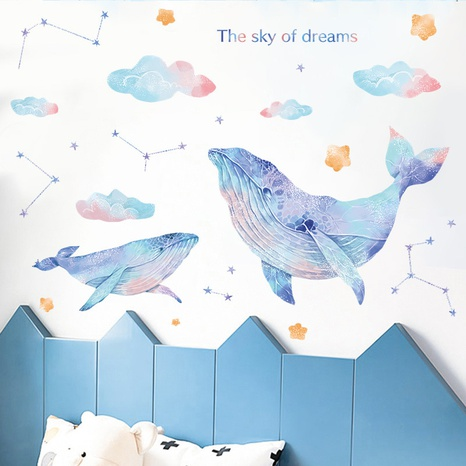 New dreamy whale clouds constellations home decoration wall stickers wholesale Nihaojewelry  NHAF432805's discount tags
