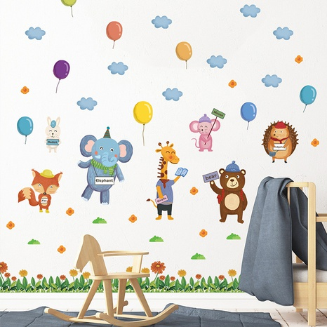 Cartoon Animal Garden Party Clouds Balloon Children's Room Wall Sticker Wholesale Nihaojewelry  NHAF432809's discount tags
