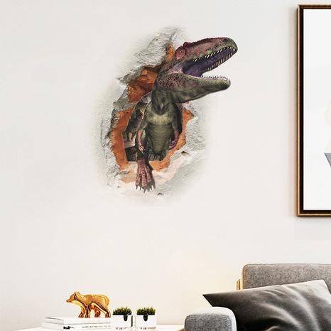 New Broken Wall Fierce Tyrannosaurus Rex Decoration Sticker Wholesale Nihaojewelry  NHAF432811's discount tags