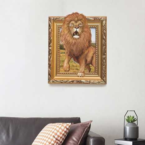 New mighty big lion photo frame wall decoration stickers wholesale Nihaojewelry  NHAF432813's discount tags