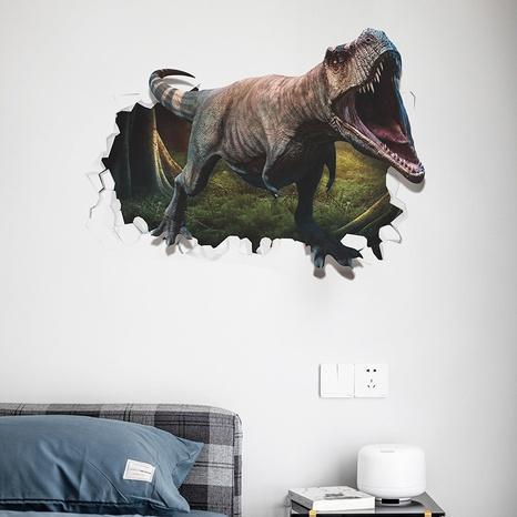 Broken Wall Fierce Tyrannosaurus Rex Boy Room Decoration Sticker Wholesale Nihaojewelry  NHAF432814's discount tags
