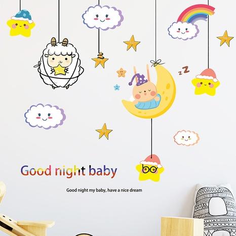 New Cartoon Moon Cloud Rainbow Lamb Star Room Wall Sticker Wholesale Nihaojewelry  NHAF432816's discount tags