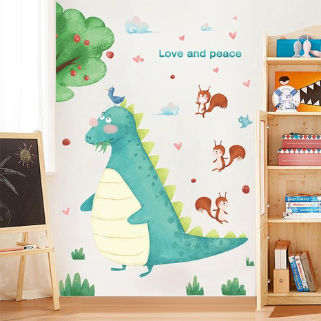 Cartoon Harmony Forest Dinosaur Squirrel Children's Room Wall Sticker Wholesale Nihaojewelry  NHAF432819's discount tags