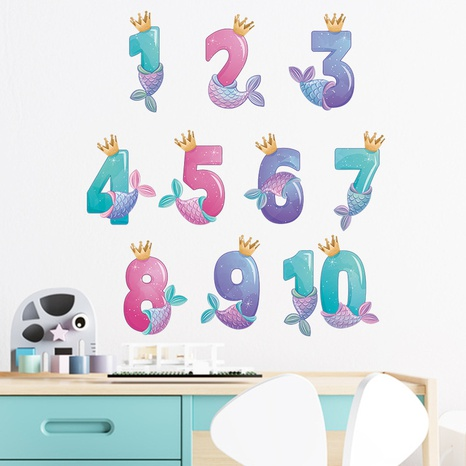 New cartoon Arabic numerals children's preschool home wall stickers wholesale Nihaojewelry  NHAF432825's discount tags