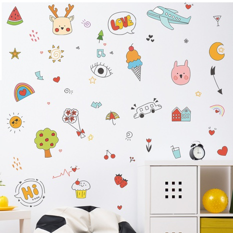 New cartoon animal plant airplane moon children's bedroom wall stickers wholesale Nihaojewelry  NHAF432826's discount tags