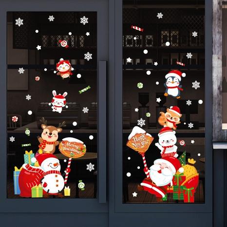 Cartoon Santa Claus Snowman Fawn Glass Window Wall Stickers Wholesale Nihaojewelry  NHAF432832's discount tags