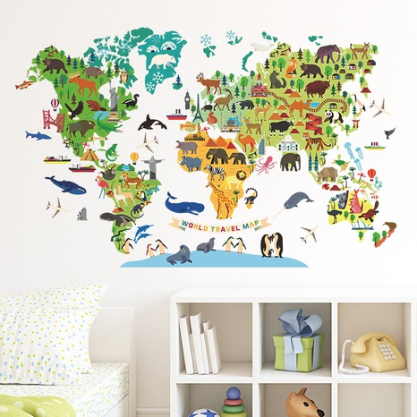 New Cartoon Animal Plate Bedroom Living Room Decoration Wall Sticker Wholesale Nihaojewelry  NHAF432837's discount tags