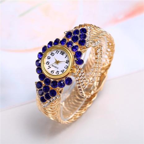 Opening Adjustable Bracelet Bracelet Women's Watch Full Diamond Small Steel Band Retro Ring Set Watch NHHK434134's discount tags
