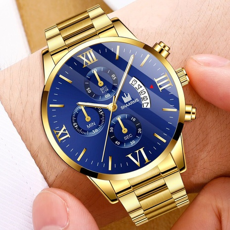 men's watch business casual quartz watch wrist watch steel band trend watch wholesale NHHK434139's discount tags